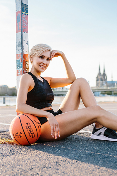 outdoor basketball in cologne, germany